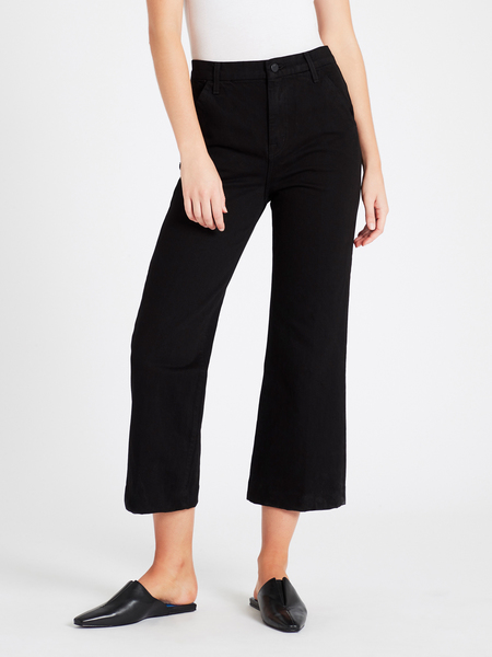 J Brand Joan Crop Trouser - Black