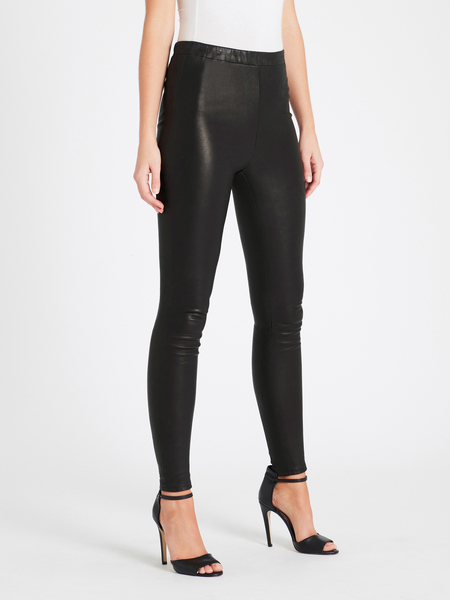 J Brand Macey High Rise Pull On Leather Leggings