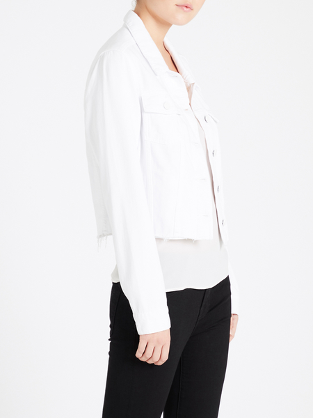 Paige Relaxed Vivienne Jacket - Crisp White
