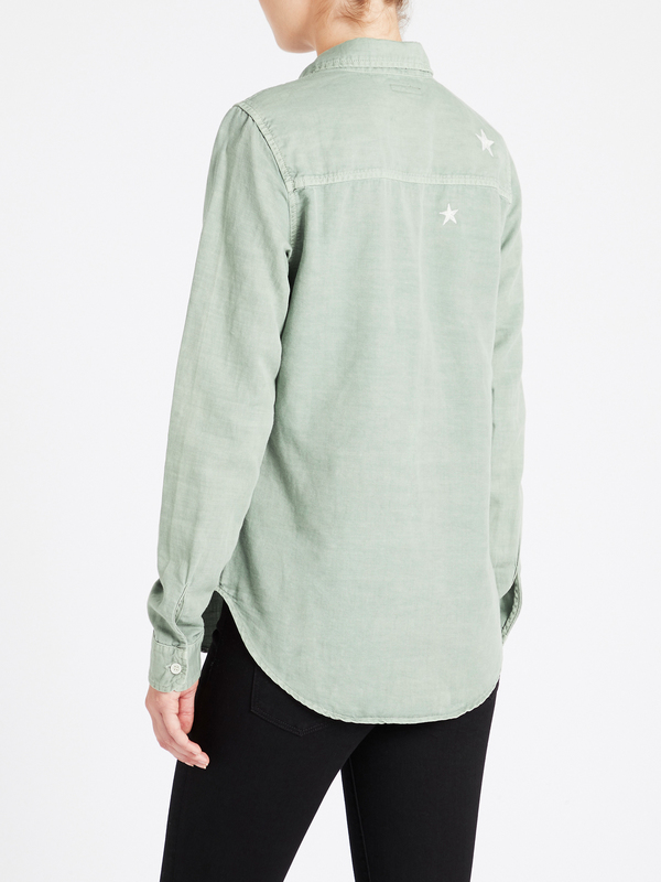 Mother Denim Trooper Shirt - Army Green Freedom