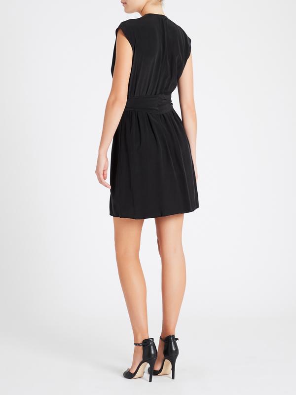 L'agence Carina Pleated Dress - Black