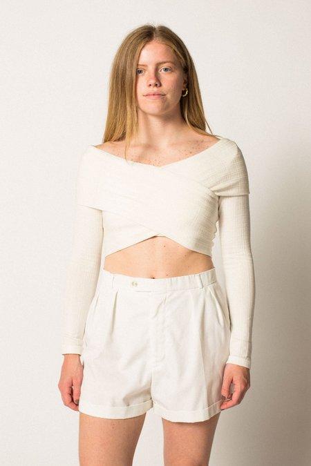 Preservation Vintage Cotton Shorts - White