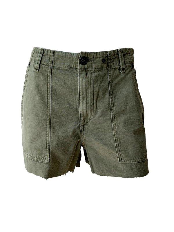 102eabcde3e Rag & Bone Super High Rise Army Shorts - Olive | Garmentory