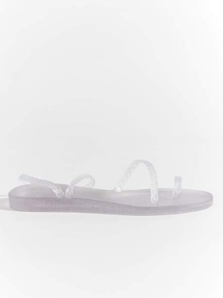 Ancient Greek Sandals Eleftheria Sandal - Clear/Silver