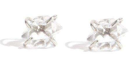 Melissa Joy Manning Herkimer Diamond Stud Earrings - Silver