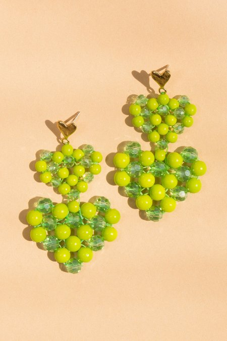 Luiny Lola Earrings - Lime