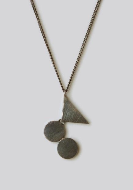 Naoko Ogawa Circles and Triangle Fulcrum Necklace