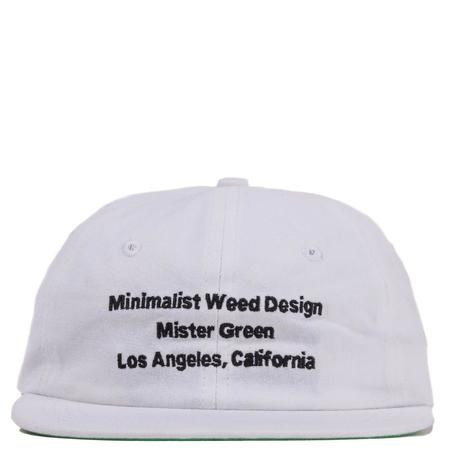 Mister Green Minimalist Weed Design Snap - Black/White