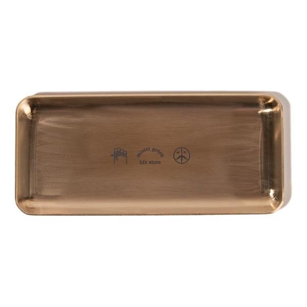 Mister Green Rolling Tray Logo - Brass