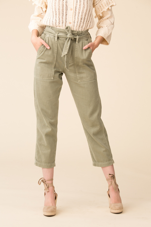 Amo Denim Paperbag Relaxed Straight Leg Pant - Surplus