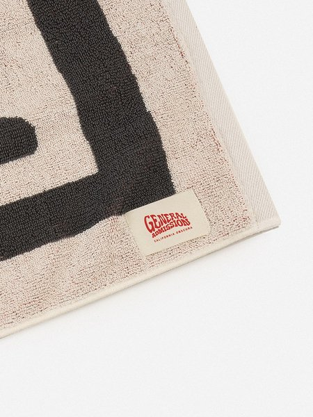 GENERAL ADMISSION Abstract Funky Towel - Scour/Dark Grey