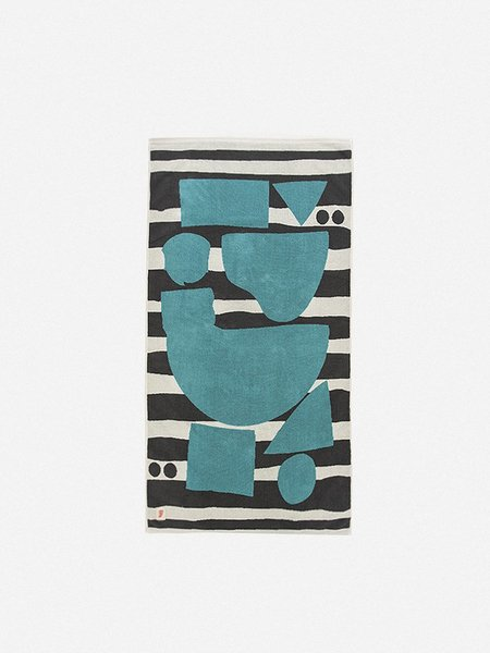 GENERAL ADMISSION Abstract Shapes Towel - Scour/Dark Grey