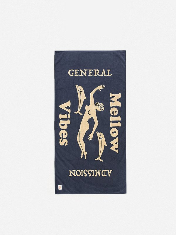 GENERAL ADMISSION Mellow Vibes Towel - Slate/Cream