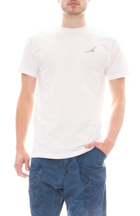 FREEDOM ARTISTS Embroidered Flight T Shirt - VINTAGE WHITE