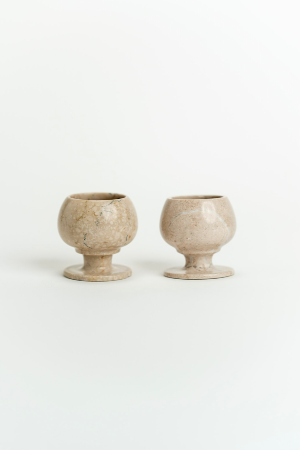 Fourth St Pair of Stone Cups