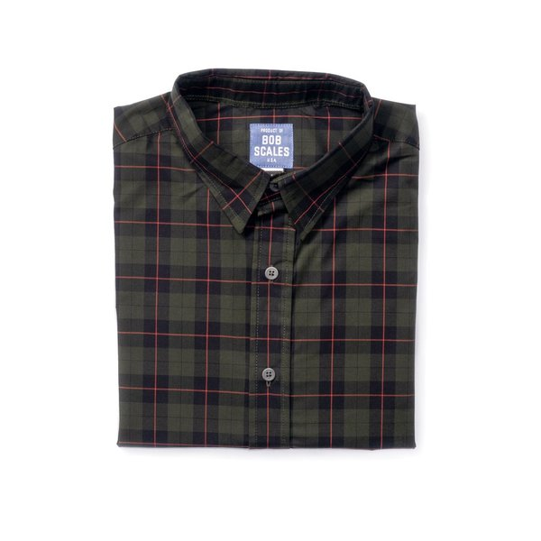 Product of Bob Scales SHORT SLEEVE DAILY DRIVER - DARK GREEN PLAID on  Garmentory