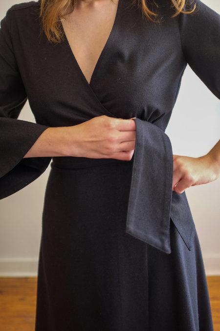 Megan Huntz Heana Wrap Dress - black