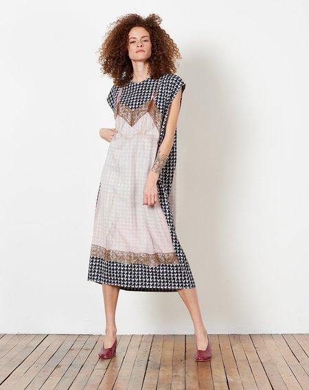 A Détacher Erma Dress - Slip Print Houndstooth