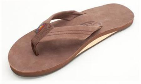 Rainbow Sandals Single Layer Premier Leather With Arch Support Sandal - Expresso
