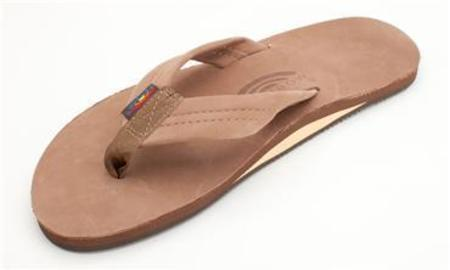 Rainbow Sandals Single Layer Premier Leather With Arch Support Sandal - Dark Brown