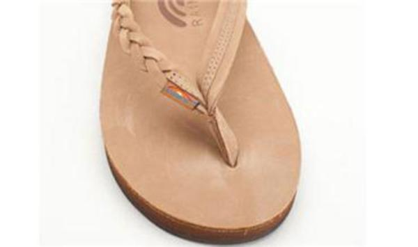 d275e25d47eb1 Rainbow Sandals Flirty Braidy Single Layer Premier Leather with Arch  Support with a Braided Strap Sandal - Sierra Brown