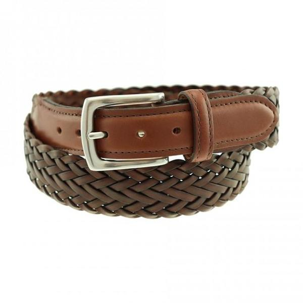 Totem Brand Co. T.B Phelps Maxwell Braided Leather Belt - Dark Tan