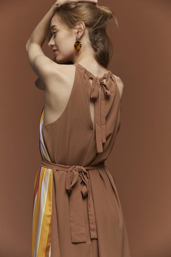 Lush Striped Halter Dress