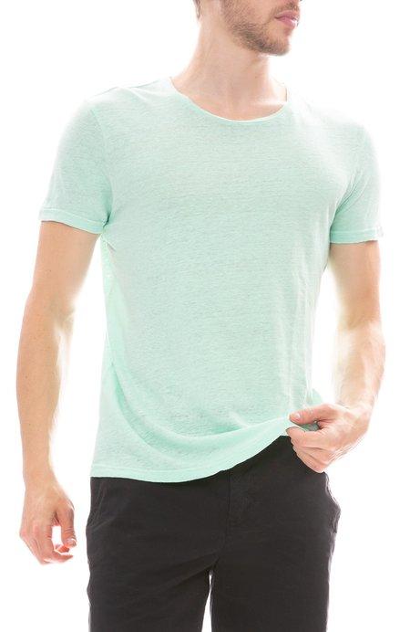 04651/ Linen Round Neck T Shirt