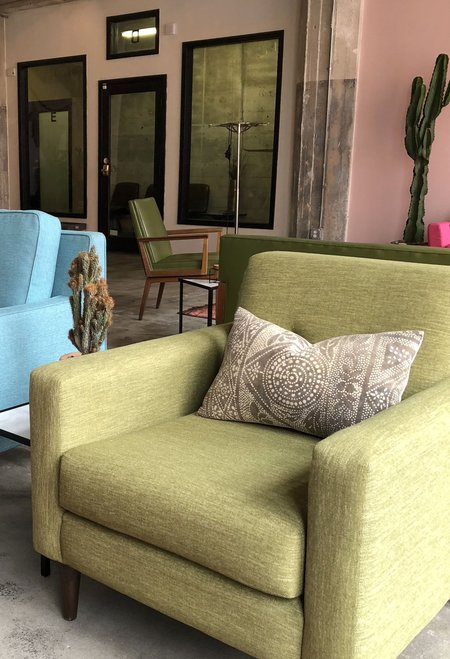 San Junipero Speckled Cactus Pillow - Grey/Brown