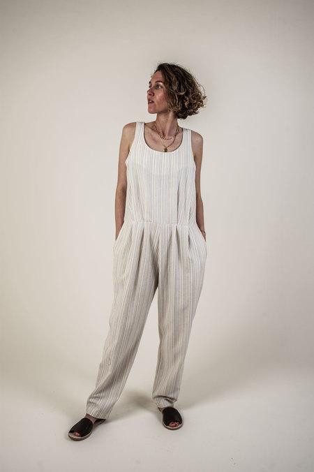 F O L D Jumpsuit - Cream Stripe