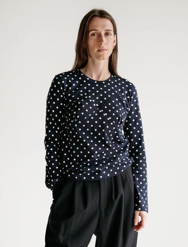 Comme des Garçons Long Sleeve Tee with Appliqué - Polka Dot