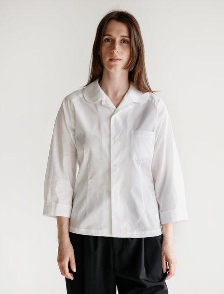 Comme des Garçons Round Collar Shirt - White