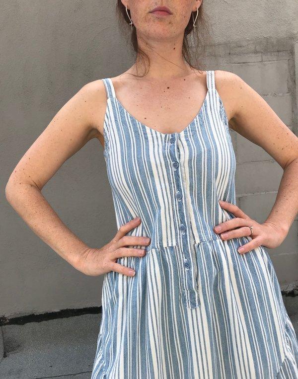 Lacausa Blue Moon Dress - Indigo Stripes