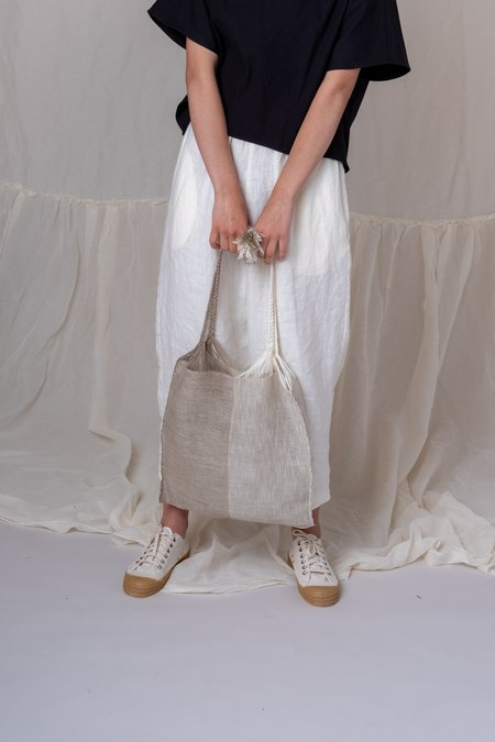Marta Buda TWO TONE WARP BAG - IVORY/GRAVEL