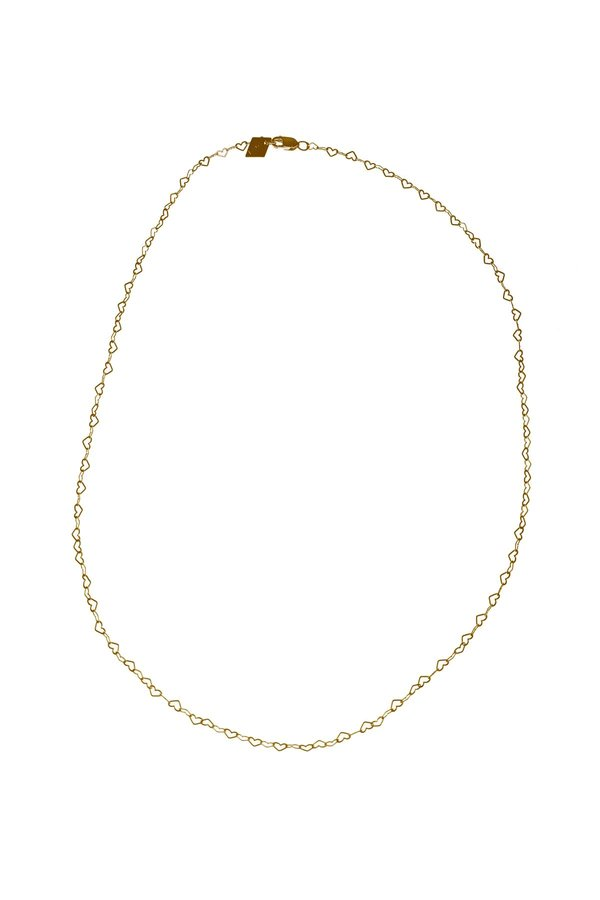 Tuza Heart Chain Necklace - Gold