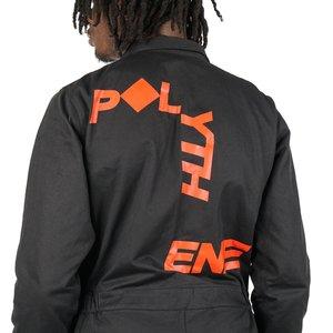 POLYTHENE* OPTICS BOILER SUIT - BLACK/RED