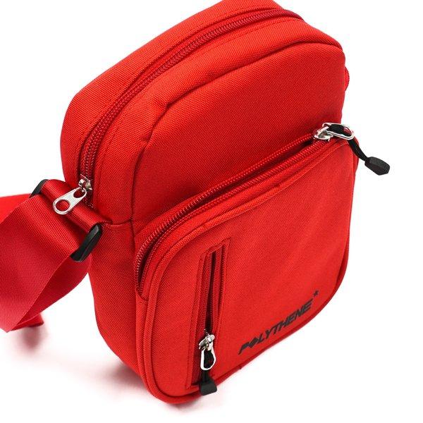 POLYTHENE* OPTICS SHOULDER BAG - RED