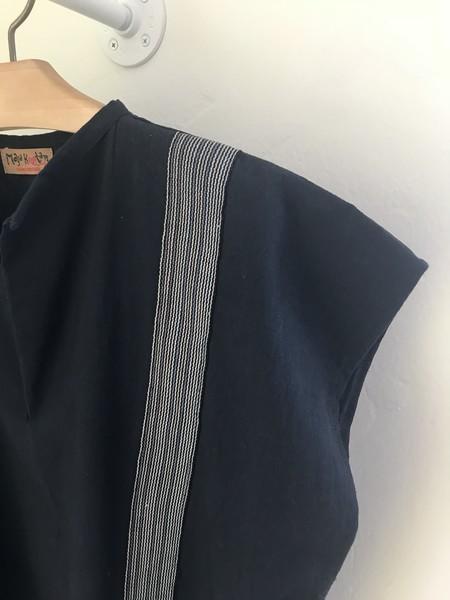 MEX Handmade S/S cotton top - Black/Stripes