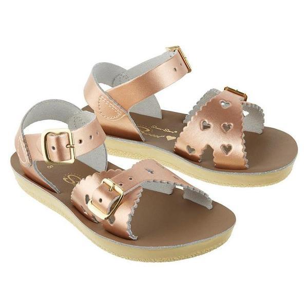 Kids Saltwater Sandals Sweetheart Sandals - Rose Gold