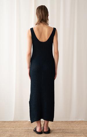 AMONG SEOUL A Tape Knit Dress - Navy