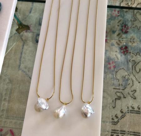 Machete Baroque Pearl Necklace - 14K Gold