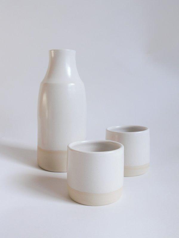 Slow Studio Ceramic Carafe Set - WHITE