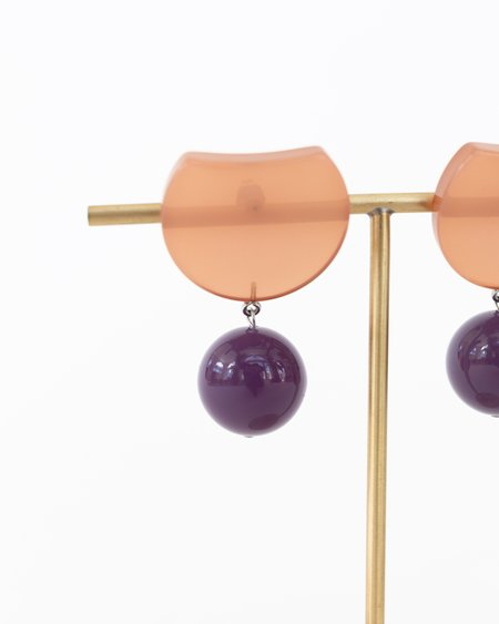 Rachel Comey Hoon Earrings - Brown/Purple