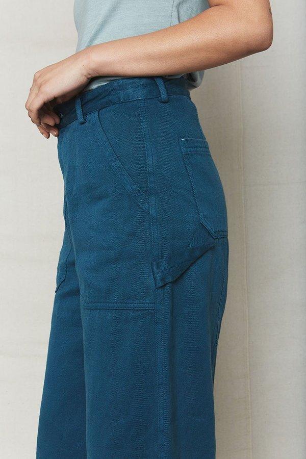 back beat rags Hemp Utility Pants - Ocean
