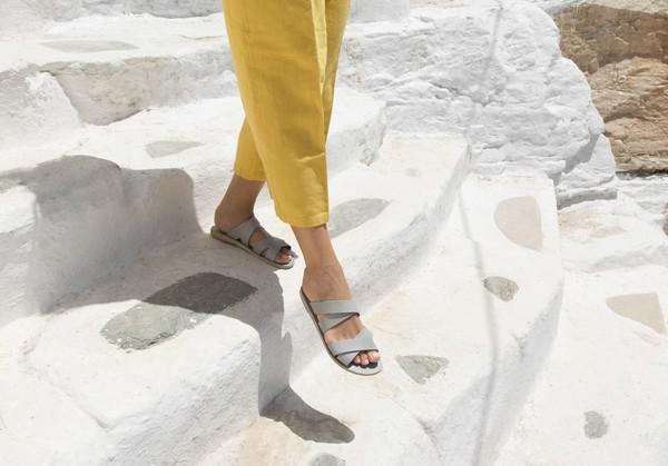 KYMA Kalamos Handmade Greek Sandal - Grey