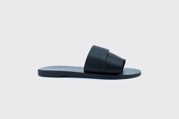 KYMA Antikithira Handmade Greek Sandals - Black