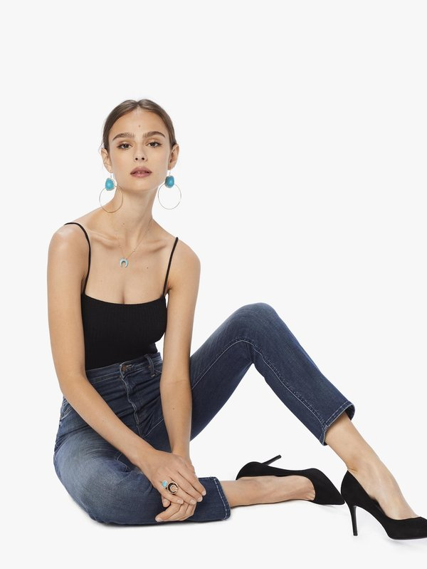 Mother Denim Mother Mid Rise Dazzler Ankle Jean - Home Before Dawn
