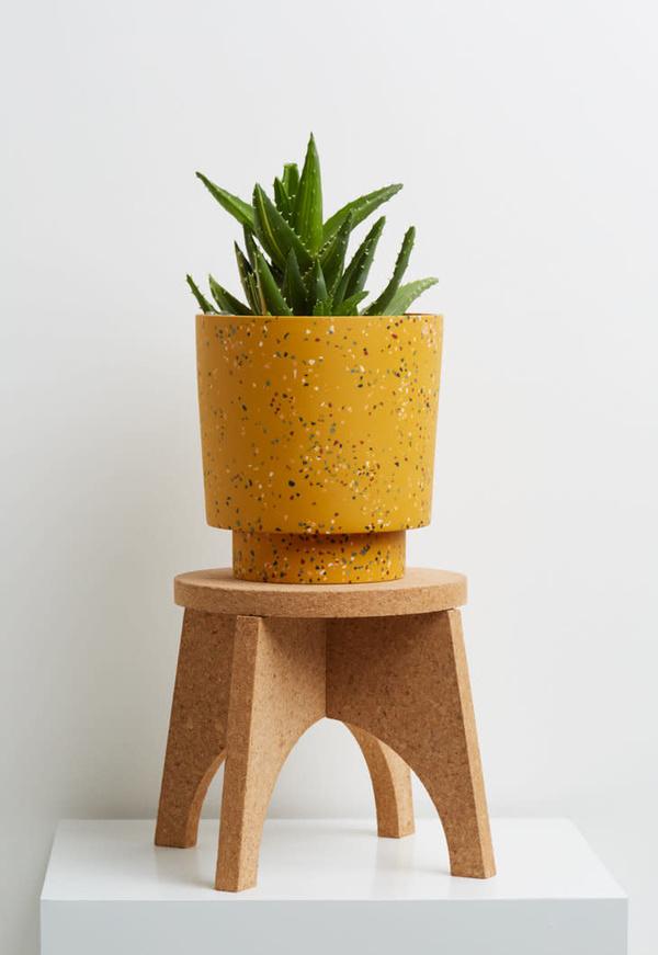 Capra Medium Planter - Golden Terrazzo