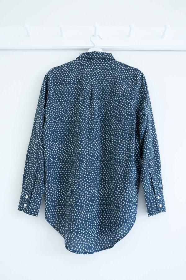 Karu Shirt - Blue Scrub Print
