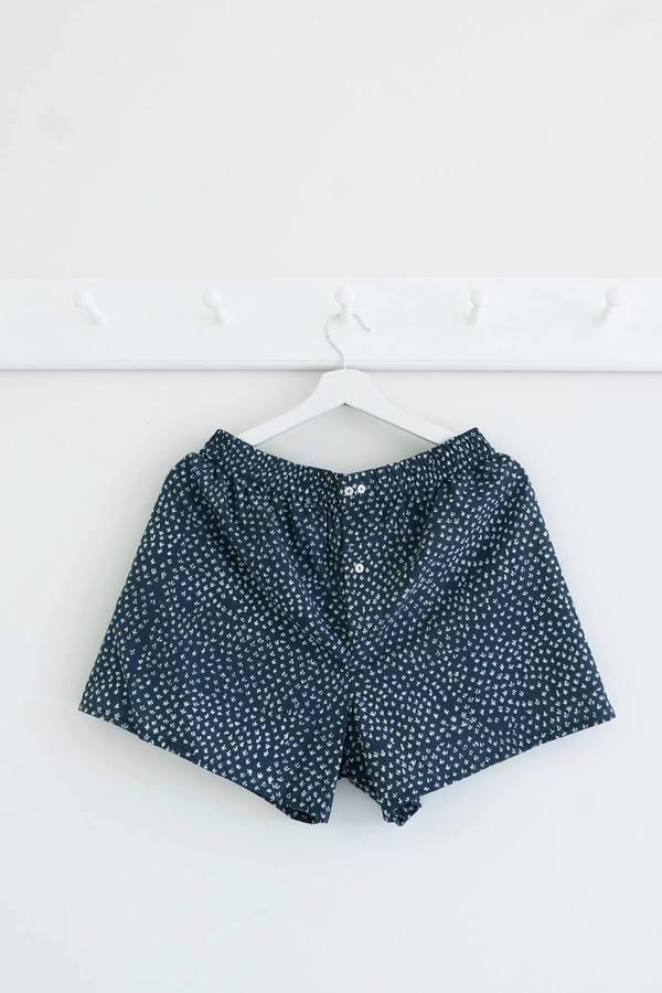 Karu Scrub Shorts - Blue Print